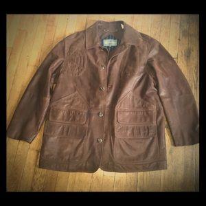Hickey Freeman Leather Jacket X-Large